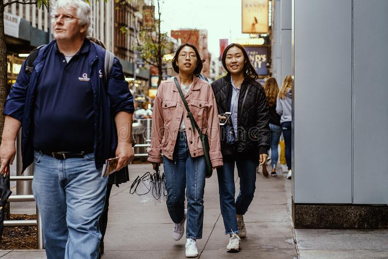 街头时尚在纽约,曼哈顿 库存照片