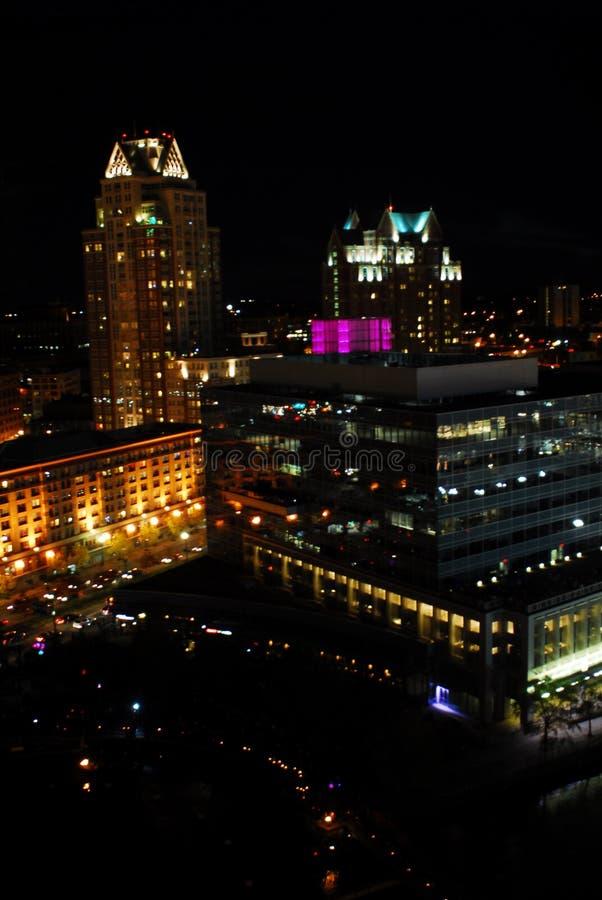 街市上帝,罗德岛州在晚上 免版税图库摄影