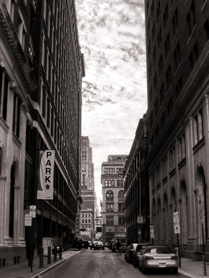 街市中心城市费城PA都市街道 库存照片