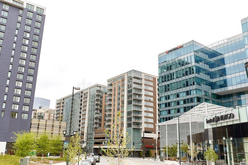 街市丹佛,科罗拉多都市风景  免版税库存照片