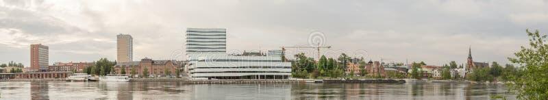 街市于默奥,瑞典 免版税图库摄影