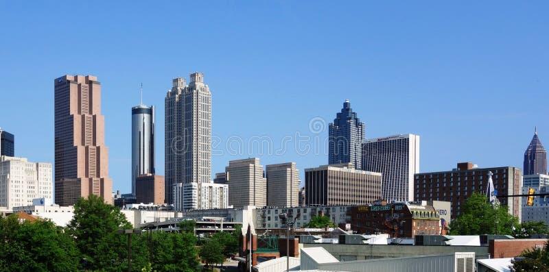 街市亚特兰大,美国的看法地平线 图库摄影