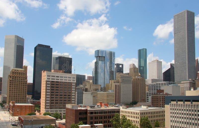 街市休斯敦地平线 免版税库存图片