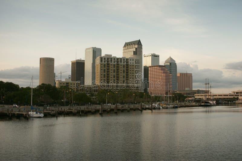 街市佛罗里达地平线坦帕 免版税库存照片