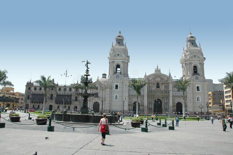 街市利马秘鲁视图 库存照片