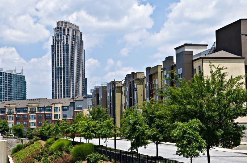 街市区的大厦 免版税库存图片