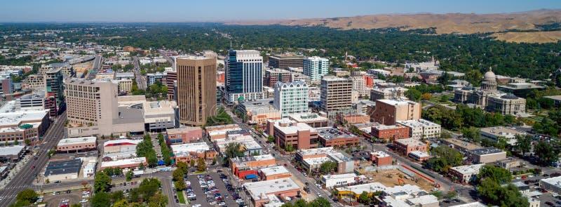 街市博伊西爱达荷城市鸟瞰图  免版税库存图片