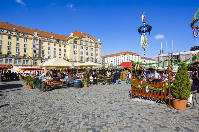 街市在德累斯顿 图库摄影