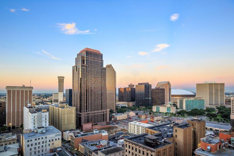 街市在新奥尔良,路易斯安那,美国 免版税库存照片