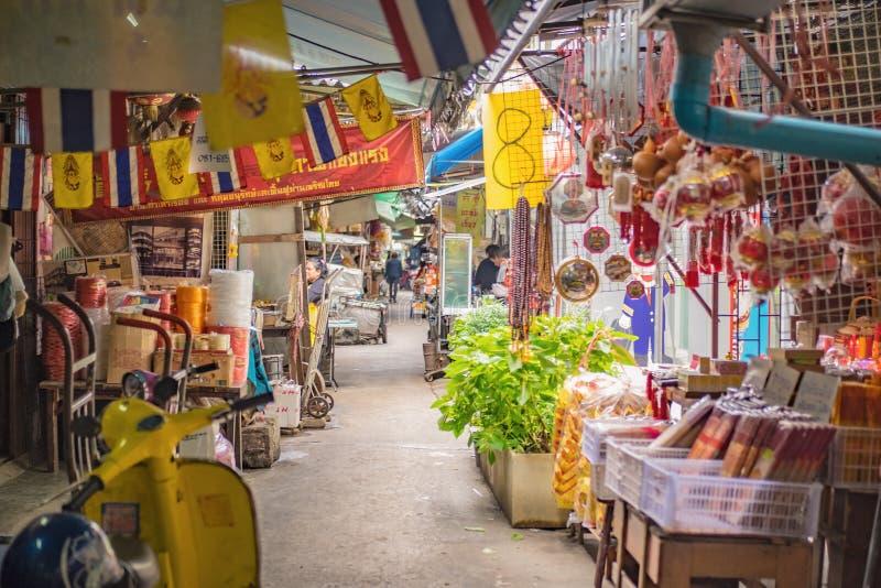 街市在曼谷中国镇曼谷市泰国 库存照片