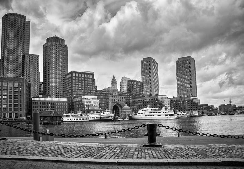 街市在波士顿,美利坚合众国 免版税库存照片