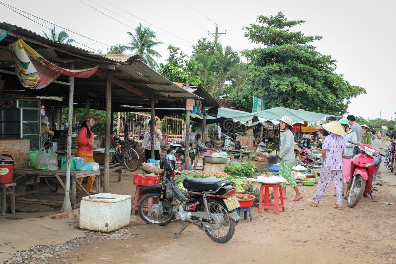 街市在越南 免版税库存图片