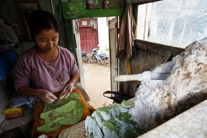 街市在Falam,缅甸(缅甸) 免版税库存照片