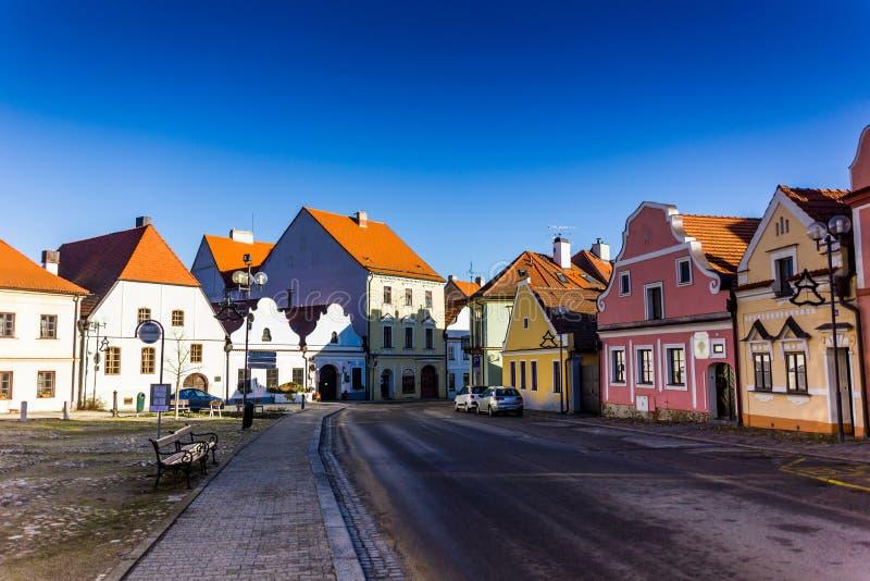 街市在Trebon,捷克 库存图片