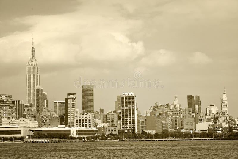 街市地标大厦纽约,美国全景  免版税图库摄影
