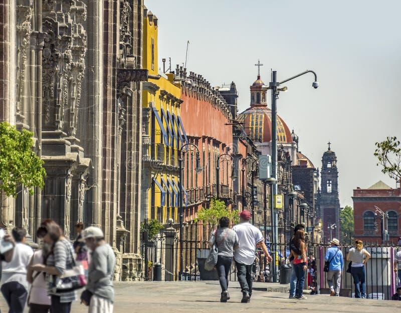 街市墨西哥城,墨西哥 库存图片