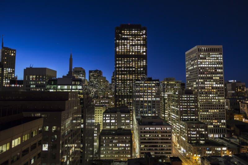 街市旧金山在黎明 免版税库存图片