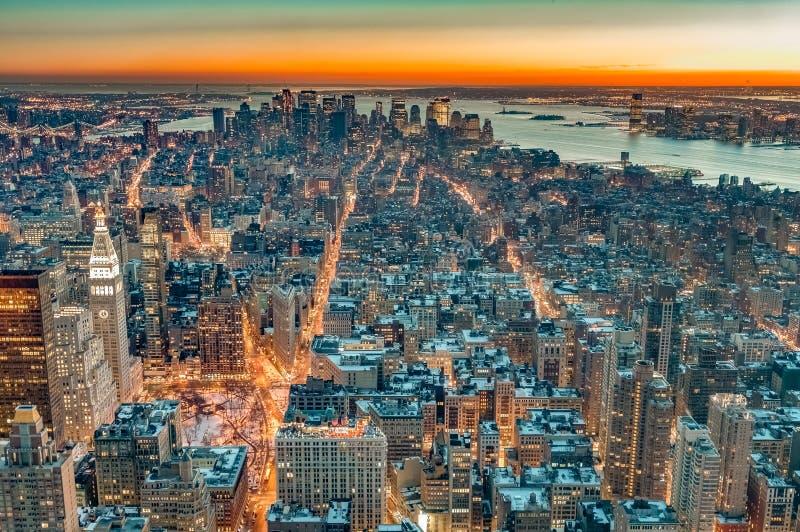 街市曼哈顿在纽约,美国 免版税库存图片