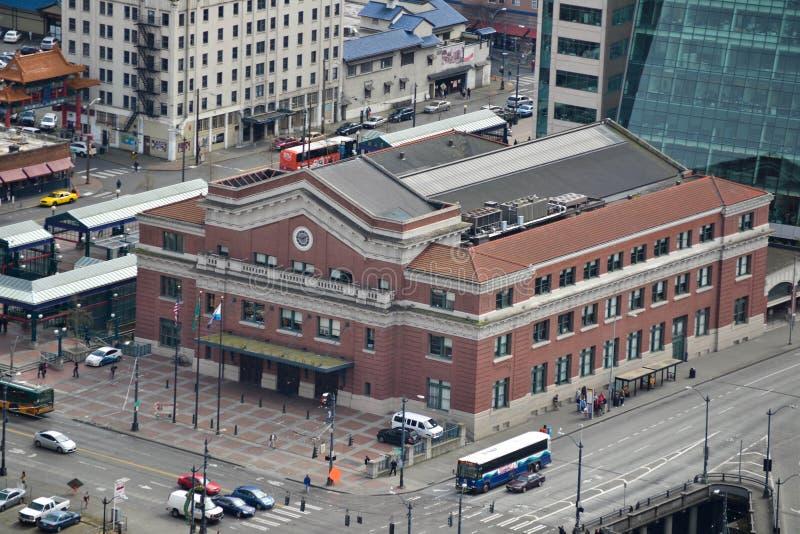 街市汽车站,西雅图,华盛顿 免版税库存图片