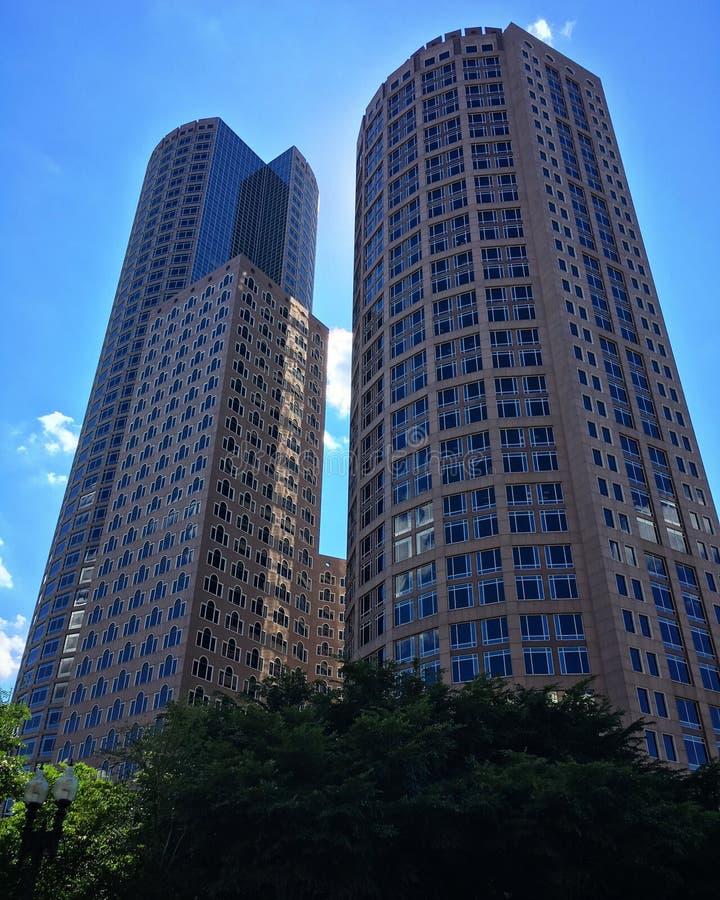 街市波士顿美丽的射击  库存图片