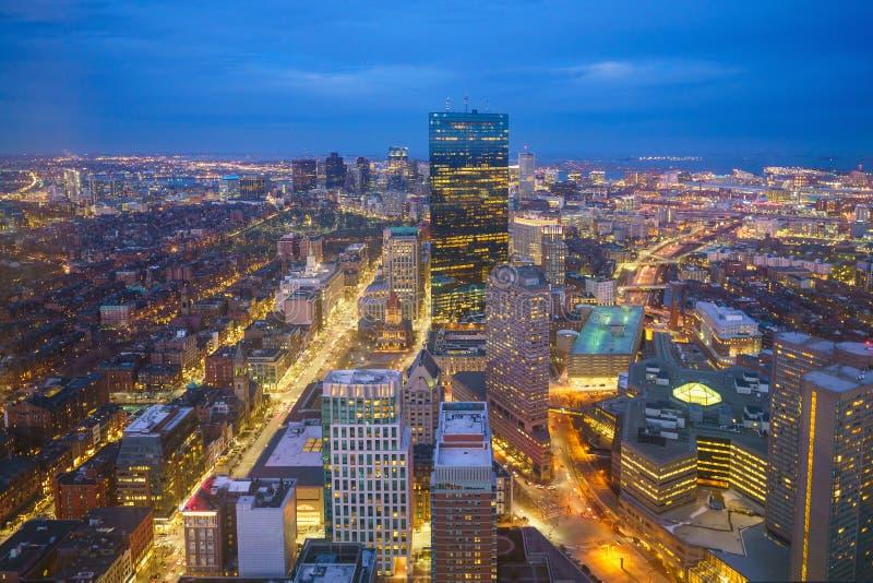 街市波士顿马萨诸塞 免版税库存照片