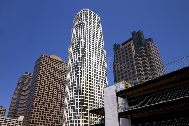 街市洛杉矶市大厦 免版税库存图片