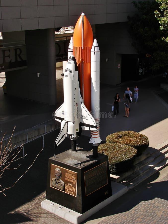 街市洛杉矶挑战者号太空梭雕象 免版税库存图片