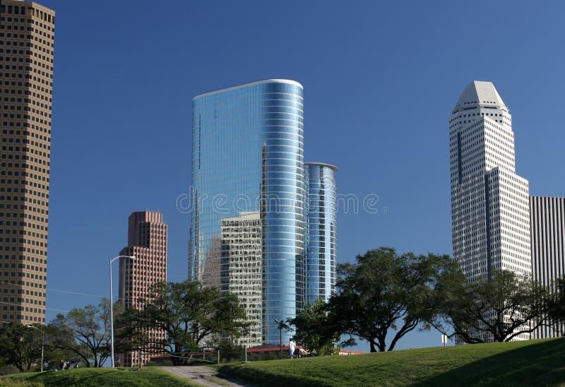 街市现代摩天大楼 免版税库存照片