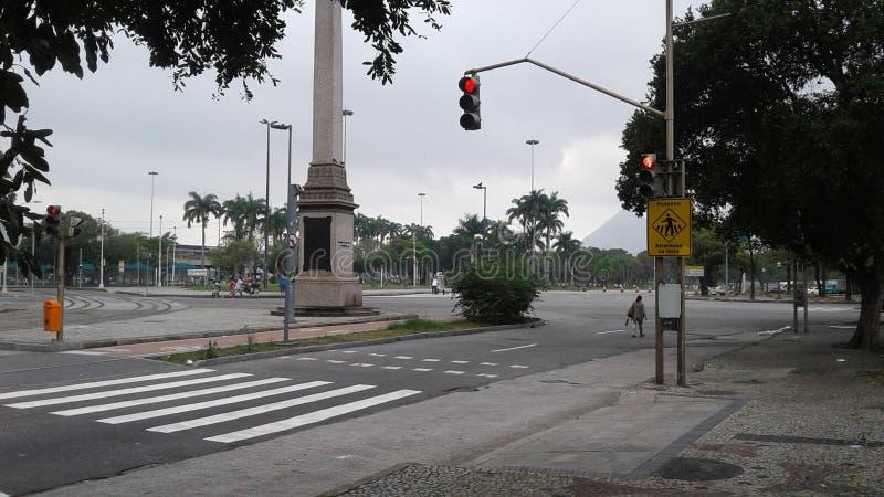 街市的巴西-里约热内卢- -里约布兰科大道 库存照片