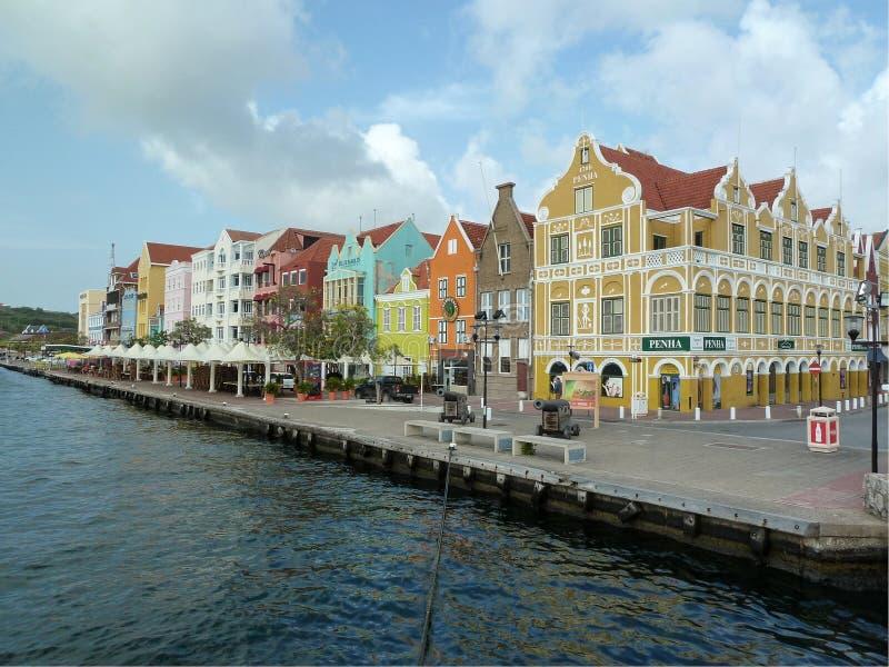 街市的库拉索岛 免版税库存照片