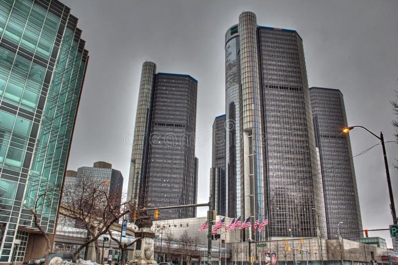 街市的底特律 免版税图库摄影
