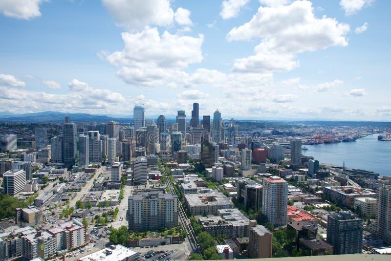 街市的西雅图 免版税库存照片