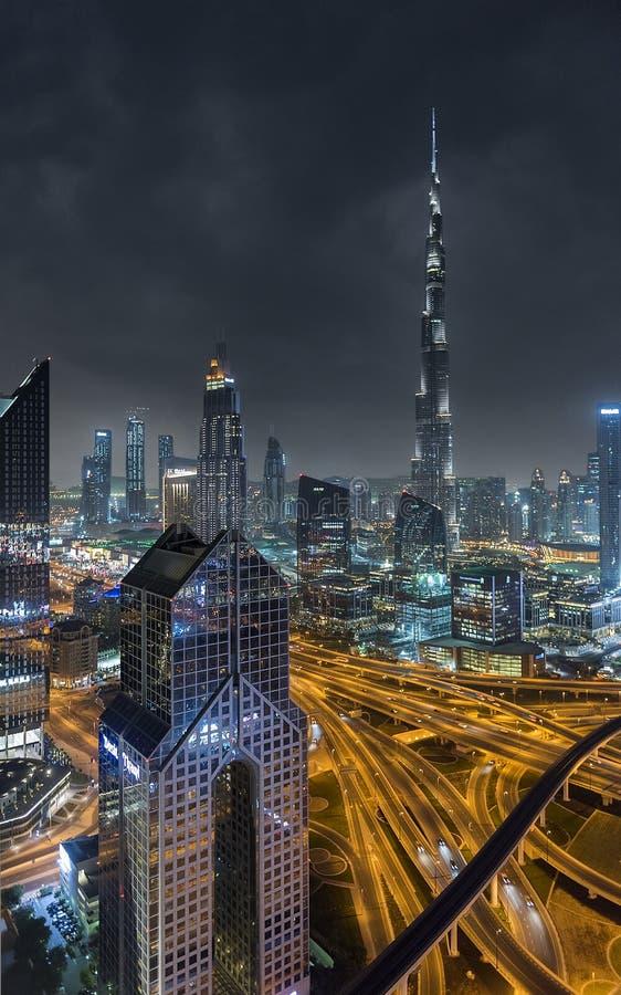 街市的迪拜,迪拜,阿联酋, 2018年1月 图库摄影