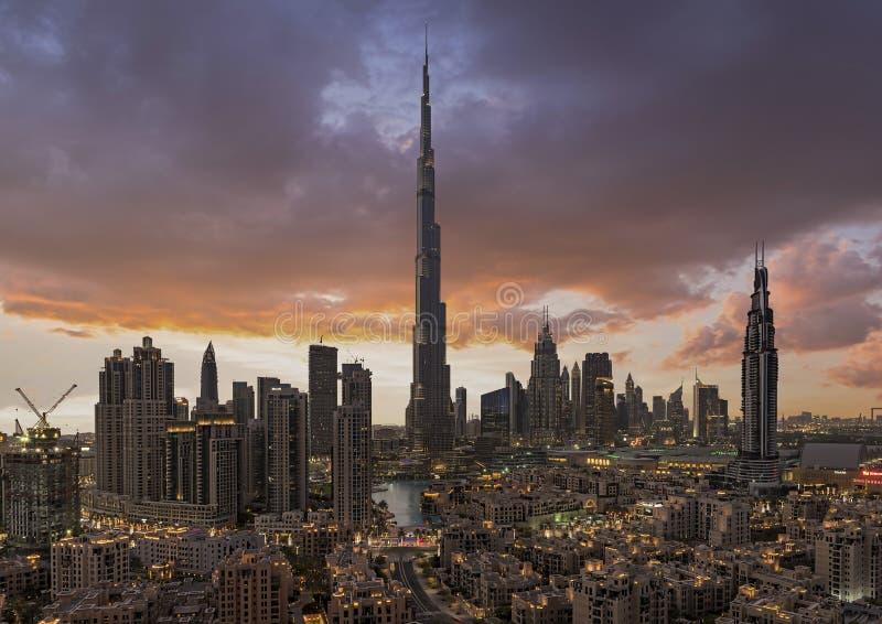 街市的迪拜,迪拜,阿联酋, 2018年1月 免版税图库摄影
