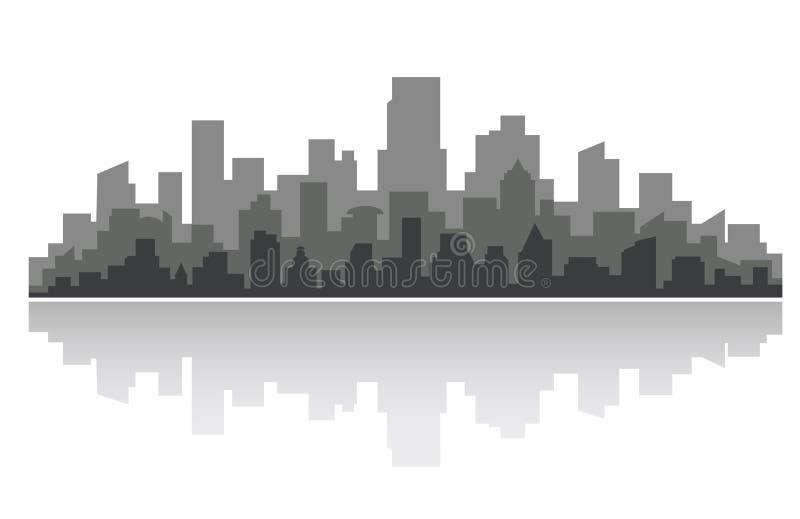 街市的都市风景 库存例证