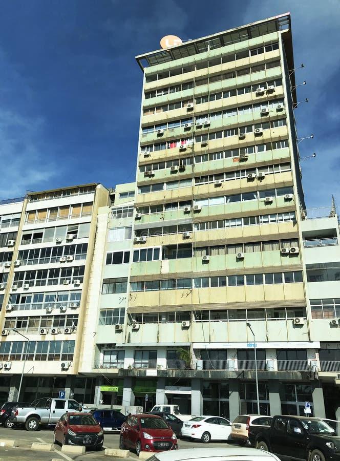 街市罗安达高层建筑物 免版税图库摄影
