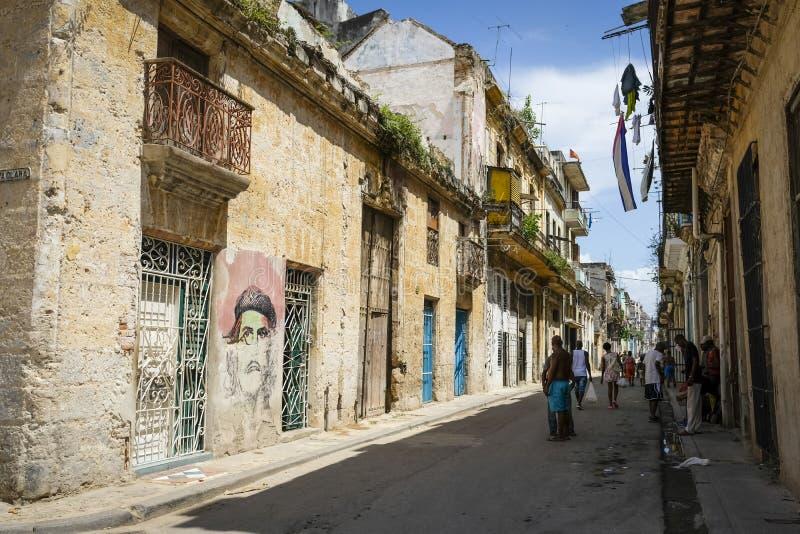 街市老哈瓦那古巴 库存照片