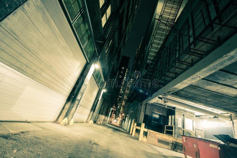 街市芝加哥胡同 免版税库存图片