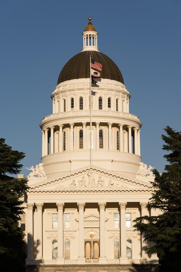 街市萨加门多加利福尼亚资本圆顶大厦城市Skylin 免版税库存图片