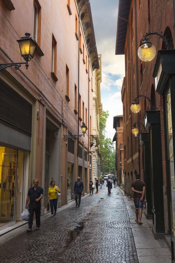 街市街道的全视图 库存图片