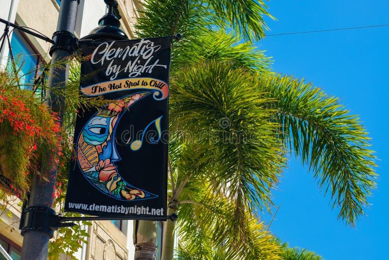 街市西棕榈海滩都市风景 库存图片