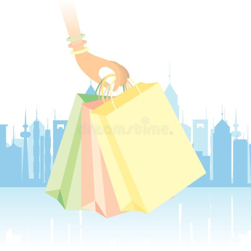 街市购物 库存例证