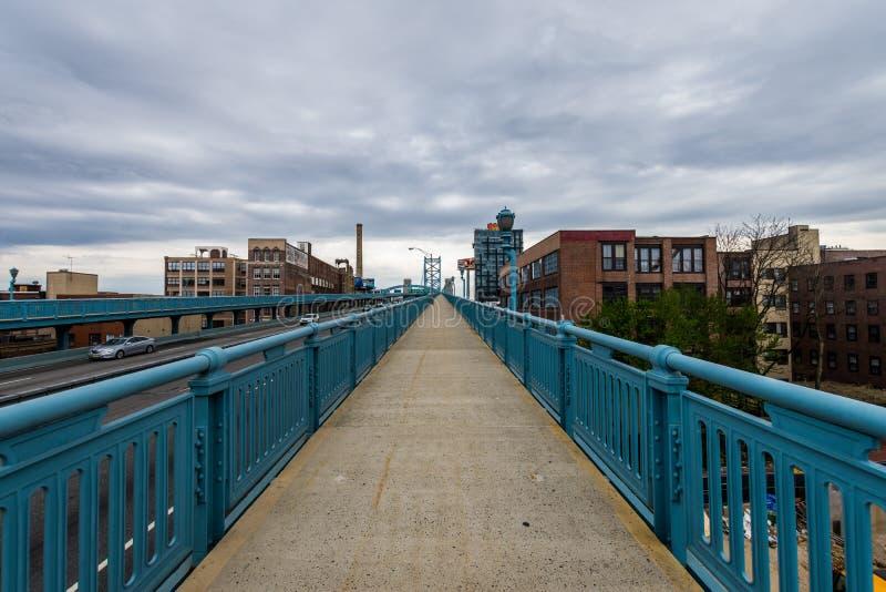 街市费城,从本杰明Fra的宾夕法尼亚地平线  库存图片