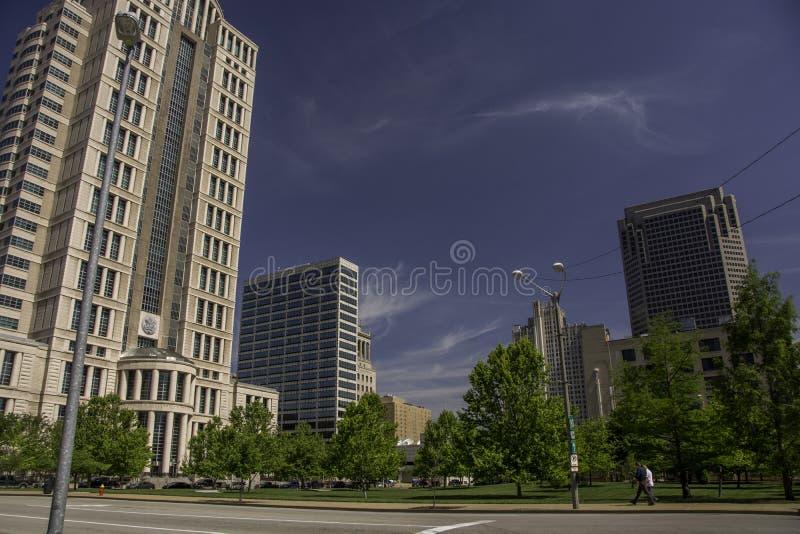 街市路易斯st 免版税图库摄影