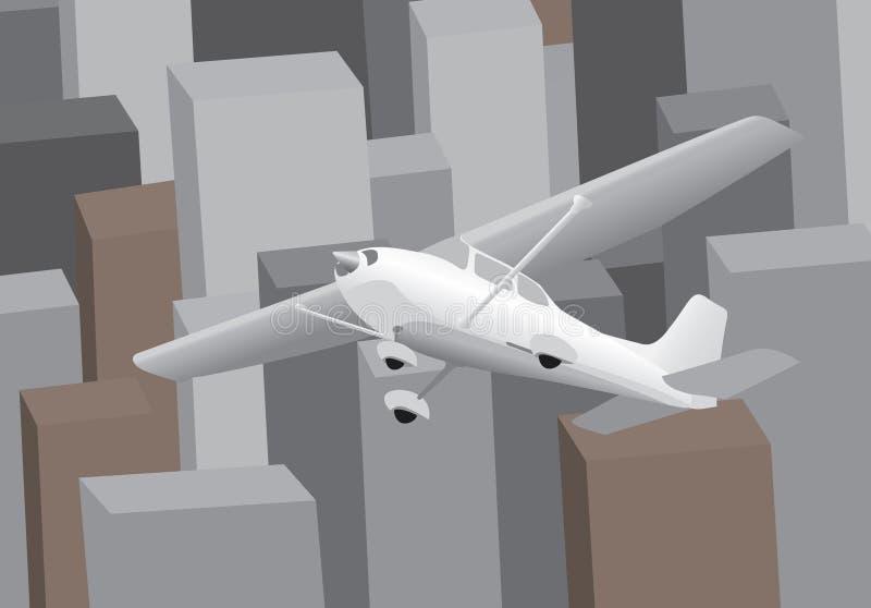 街市飞行 库存例证