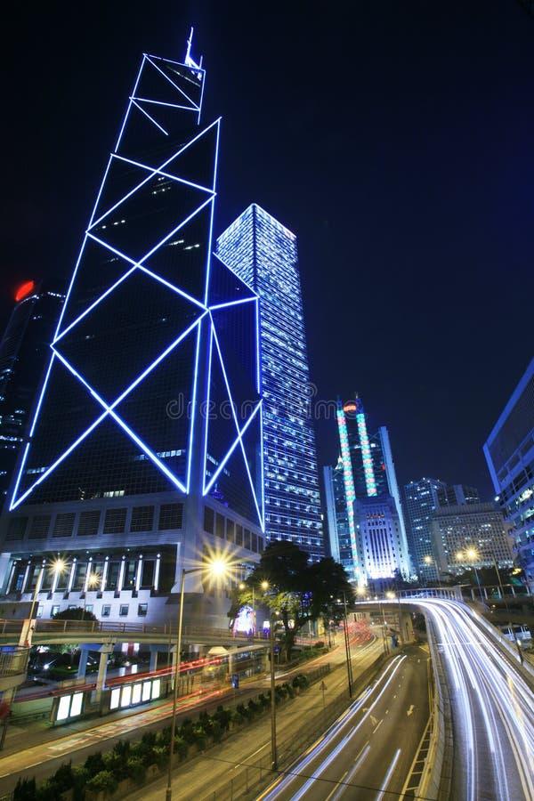 街市香港业务量 库存照片