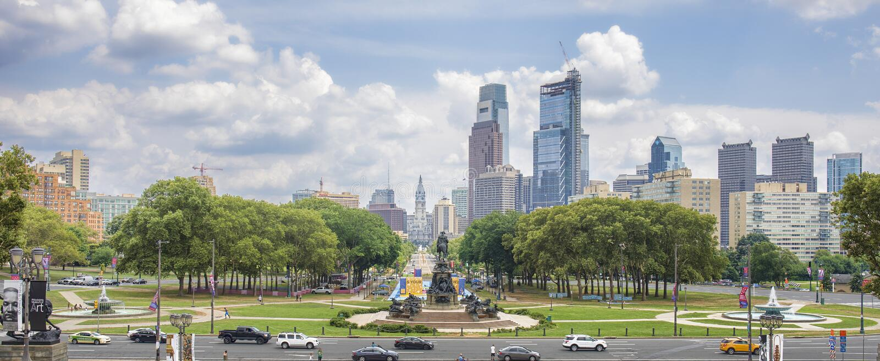 街市费城, PA 免版税库存图片