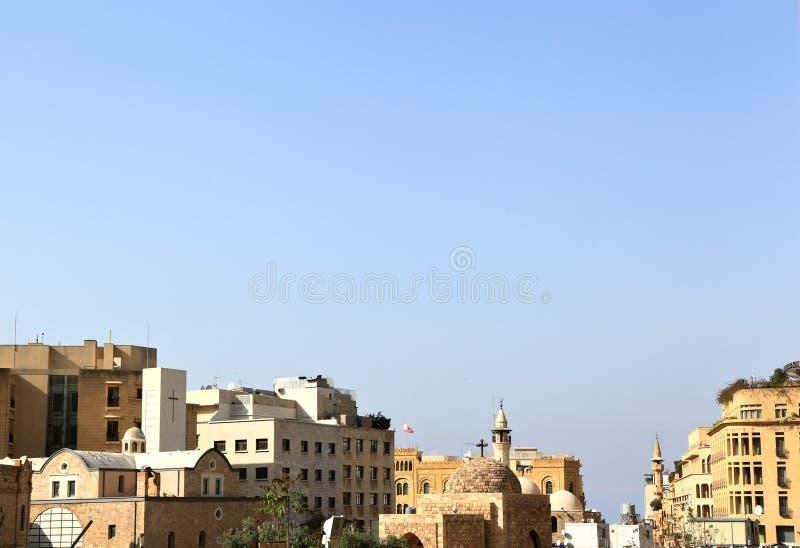 街市贝鲁特地平线 免版税库存照片