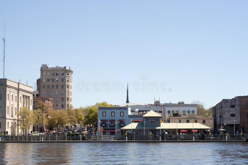街市nc riverwalk威明顿 免版税库存图片