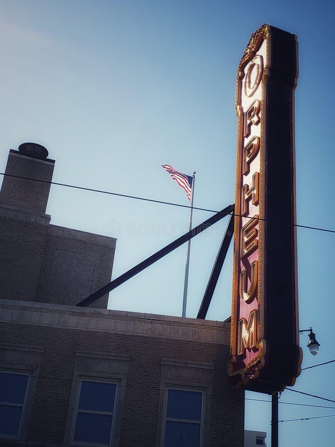 街市Orpheum的剧院-孟菲斯,田纳西 免版税图库摄影
